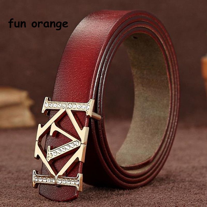 Fun Orange New Lady Buckle Buckle Belt Imported Leather Smooth Buckle Fashionable Leisure Belt(China)