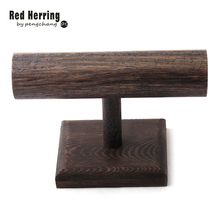 Free Shipping DIY Wood Display T-BAR Watch/Bracelet Jewelry Display Stand Holder(China)