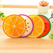Placemat Fruit Coaster dishes Colorful Silicone Cup Drinks Holder Mat Tableware Placemats Nov28