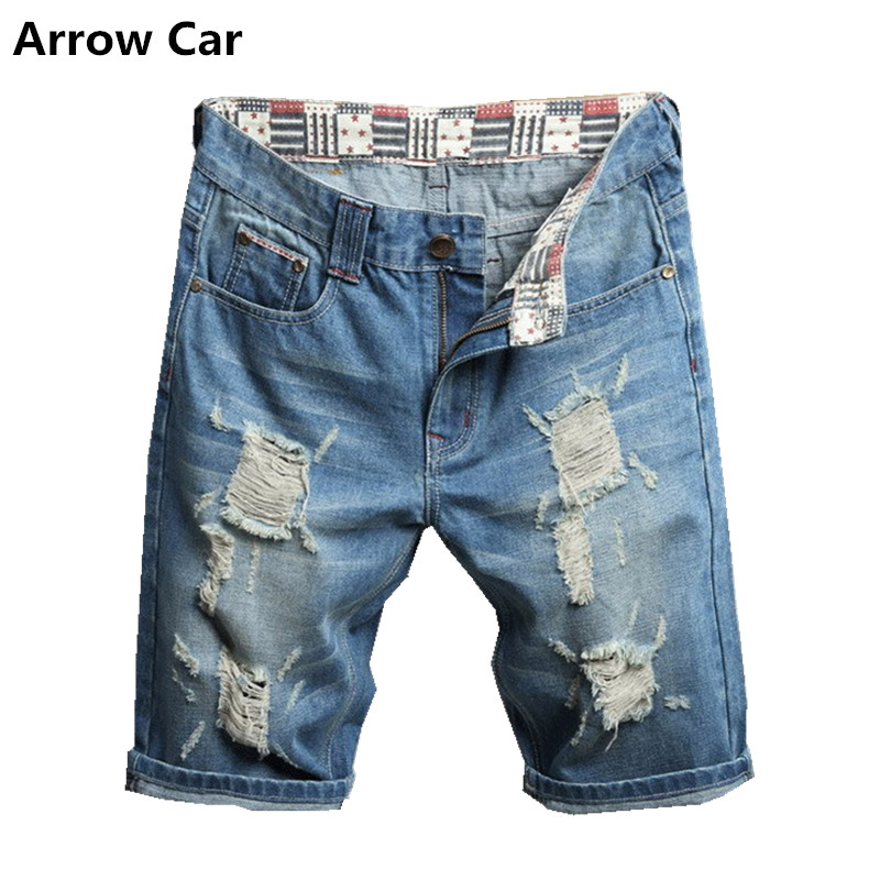 Arrow Car Summer Denim Shorts Male Jeans Men Jean Shorts Casual Fashion mens Jogger Shorts Plus Size 38