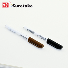 ZIG Markers Artist Sketching Pen Kuretake Brush Pen 0.6mm Alcohol based Permanent Ink Black Brown Japan