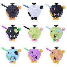 12 Side Magic Fidget Cube Toy Generation 2 Relief-Stress New Decompression Cube Cubic Anti-stress Fidget Toys for Children Adult(China)