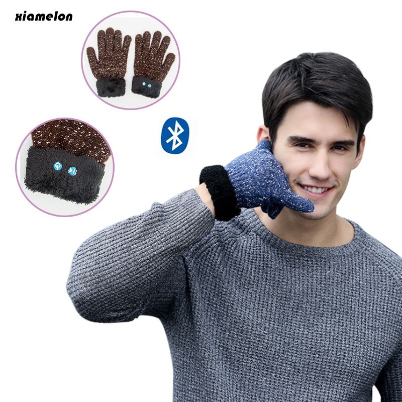 Xiamelon Bluetooth Touch Screen Gloves Headset Wireless Outdoor Sport Mittens Headphone Music Earphone Calling Answer Phone<br>