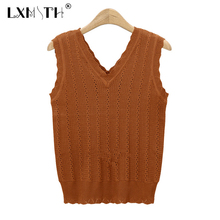 New Knit Tank Top Sweater Fitness Sleeveless Tank Tops Women Summer V Neck Crop Top Mujer Solid Ladies Tops Slim Cropped Women(China)