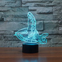 3D LED Touch Table Lamp Sea Turtle Pattern Lights LED USB 7 Colors Changing Night Lights as Decoration For Bedroom