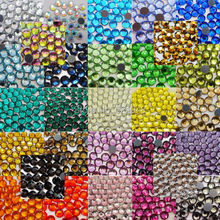 High Quality !AAA Grade SS16(3.8~4.0mm) Many Colors DMC Hotfix Rhinestones with gule 288pcs/lot Strongly recommended!(China)
