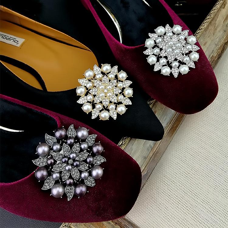 Shiny Bridal Wedding Shoes Clip Crystal Rhinestone Decor  Accessories US