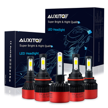 AUXITO H4 H7 H13 H11 H1 9005 9006 H3 9004 9007 9012 COB LED Headlight 72W 16000LM Car LED Headlights Bulb 6500K 12V Hi/Low Beam(China)
