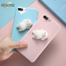 Buy KISSCASE Lovely 3D Squishy Animals Case iPhone 7 Plus iPhone 6 6S Cartoon Soft TPU Back Cover iPhone 5 5S SE Case Capa for $2.99 in AliExpress store