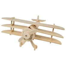 BOHS Spowith Triplane Fighter Aircraft 3D Puzzles Scale Miniature Wooden Model DIY Educational Toys(China)