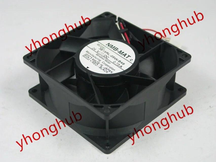 Free Shipping For  NMB 3615RL-05W-B49, E0X DC 24V 0.73A, 90x90x38mm 3-wire 80mm Server Square cooling fan<br>
