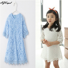 Hot 2016 New Spring Dress For girl vestido de princesa Girl Clothes Princess Baby Girls Lace Dress Children's Formal dresses