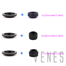 Buy M42 Lens Adjustable Focusing Helicoid Macro Tube Adapter 13-22mm/35-90mm/17-31mm+Lens Adapter M42/C Mount Lens M4/3 camera for $24.10 in AliExpress store