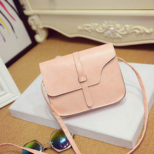 Women Handbags Popular Messenger Bags Candy Color PU Leather Ladies Satchel Crossbody Shoulder Bags High Quality Free shipping