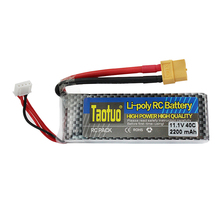 Taotuo Power Lithium Lipo Battery 11.1V 2200MAH 40C XT60 Plug for RC Car Airplane Helicopter Drone Quadcopter Bateria Parts(China)