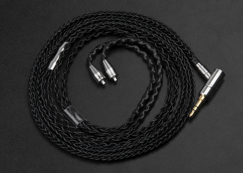Pure Silver Plated 8 Core Upgrade Cable Silver Sterling Earphone Cable For Shure SE535 LZ DQSM With MMCX Connector