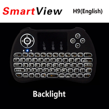 Backlight H9 I8 I8+ 2.4G Wireless English Russian Hebrew Keyboard Backlit with Touchpad for Mini PC Smart TV TV Box Laptop PC