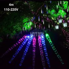 4m Curtain Icicle led light String Led Christmas Light 110-220V For New year Garden Xmas Wedding Party Indoor Outdoor Decoration