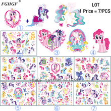 Buy FGHGF 7PCS Cartoon Cute pony Child Temporary Body Art Flash Tattoo Sticker 17*10cm Waterproof painless tattoo for $3.00 in AliExpress store