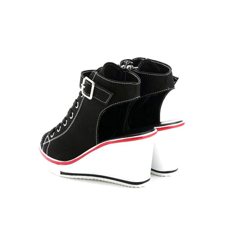 CPI Summer Wedges Canvas Shoes Woman Platform Sandals Ladies Open Toe Breathable Shoe Women Casual Shoes Platform Wedge NX-043