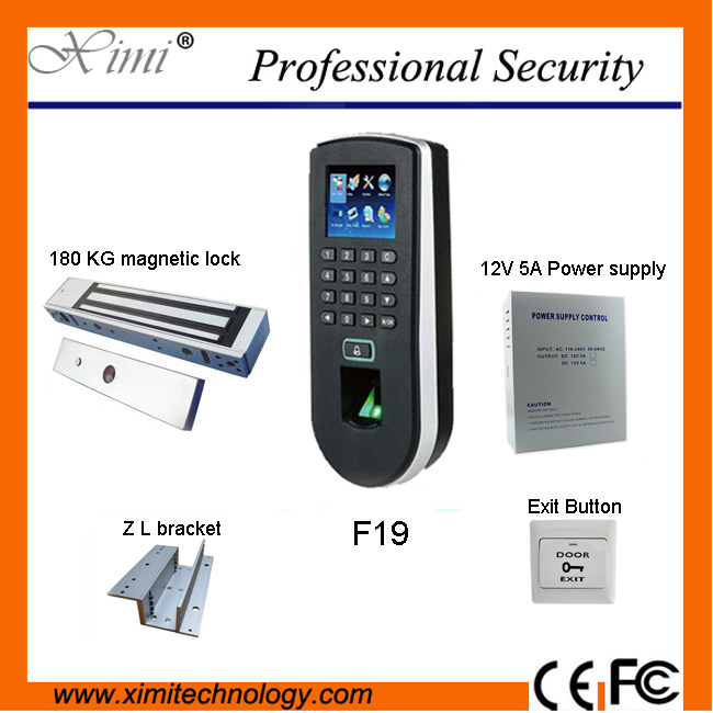 DIY ZK independent biometric fingerprint test and access control system F19 access controller component(China (Mainland))