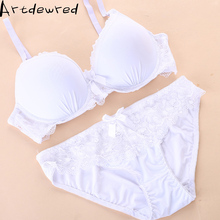 Buy ARTDEWRED New arrival Plus Size Bra Set 38-48 CDE Cup Brassiere Sets Women Sexy Lace Underwear Large Bra Panty bralette