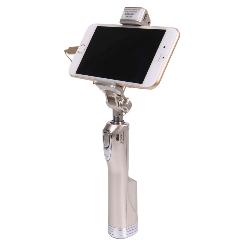 OOTDTY  Selfie Stick LED Fill Light Bluetooth Remote Shutter For iPhone Samsung Android Phones
