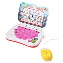 Mini E-school PC Learning Machine Computer Laptop Baby Children Educational Game Toy Electronic Notebook Kids Study Music Phone