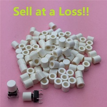 100pcs/lot White Plastic Cap Hat G63 for 6*6mm Tactile Push Button Switch Lid Cover Free Shipping(China)