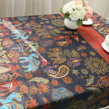 2016 New Arrival Bohemia National Style Table Cloth Europe Style Pastoral Tablecloth Cotton Linen for Tea Tables Free Ship