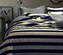 Simple black and white striped  cotton three or four piece bedding quilt quilt cotton s 1.5 1.8M FREE SHIPPING
