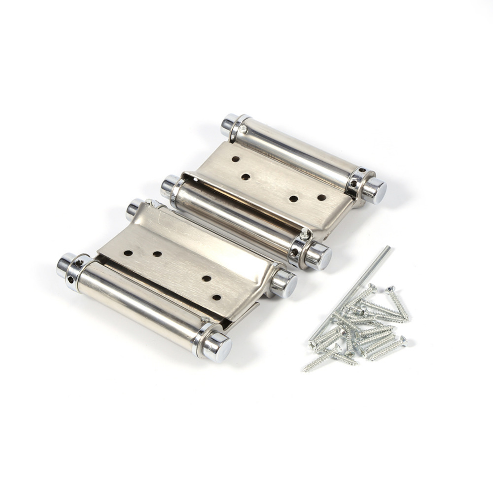 2pcs/set 3 Inch Stainless Steel Hinge Double Action Door Hinge For Cafe Door Swing Furniture Durable Free shipping(China (Mainland))