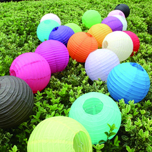 1Pcs 10/12/14 inch Round Paper Lanterns lamps for Wedding Party Home Festival Decoration Party Supplies