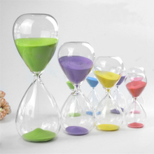 15 Minutes Transparent Glass Sand Timer Clock Sandglass Hourglass Home Decor Wedding Decoration Accessories Lovely Gifts Crafts(China)