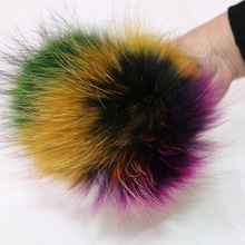 Fur Pom Poms Ball for Hats & Caps For Shoes Hats Bags Accessories Genuine Real Raccoon Fur Pompom Big Natural Fur Pompon Ball