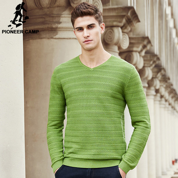 Pioneer Camp 2017 New Spring sweater men famous brand clothing fashion V-neck knit male sweater fashion casual pullover 655106