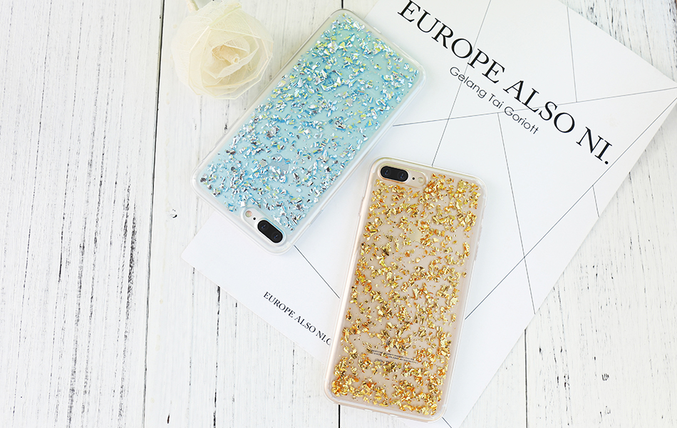 DOEES For iPhone 7 6 6S Plus 5 5S SE Case Luxury Cute Glitter Clear Case For Samsung Galaxy S8 Plus S7 S6 Edge S5 Note 7 5 Back Cover (16)