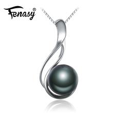 FENASY  vintage pearl Necklace black pearl fashion Design natural Pearl jewelry Pearl necklaces & pendants,necklace for women