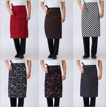 2017 Fashion Stripe Kitchen Aprons Half length Long Waist Apron Catering Chefs Waiters Household Cleaning Accessories Delantal