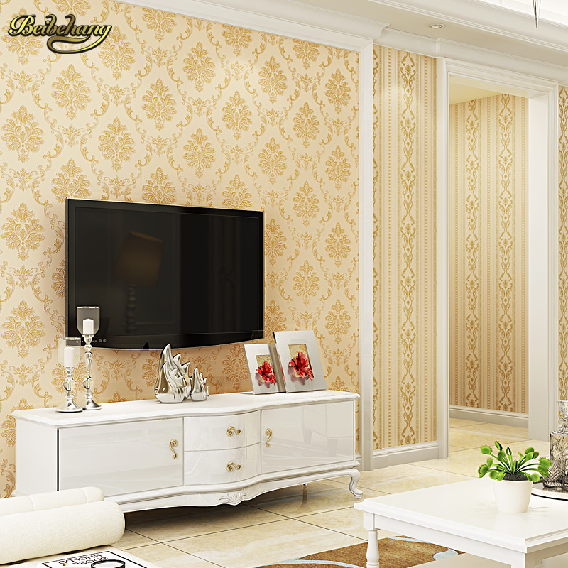 beibehang European Wallpaper for Walls 3 d papel de parede 3D Wall paper Rolls Damask Wall Paper Floral for Bedroom Living Room<br>