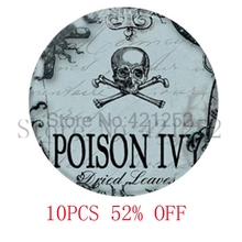 Poison Spooky Halloween Jewelry goth Poison Ivy Pendant glass Photo Cabochon Necklace keyring bookmark cufflink  earring