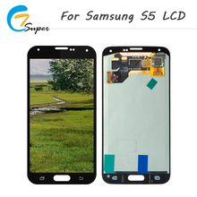 1PCS LCD For Samsung Galaxy S5 i9600 SM-G900 G900 LCD Display Touch screen Digitizer Assembly for Samsung S5 SM-G900 LCD Screen(China)