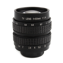50MM F1.4 TV Lens For Sony NEX/Panasonic/Olympus MFT M4/3 and Fuji FX Cameras Silver Black Color(China)