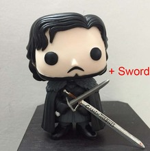 Jon Snow Action Figure + Game of Thrones Sword Funko POP TV Series GOT Character Doll Model In Stock With Original Box