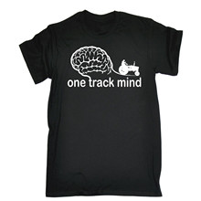 ONE TRACK MIND TRACTOR T-SHIRT Tee Farming Farmer Funny Birthday Gift Present 3D Men Hot Cheap Short Sleeve Male T Shirt