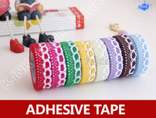 20pcs/lot , colorful lace fabric tape , beautiful lace fabric tapes for scrapbooking , sewing ribbon , DIY decoration