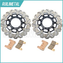 Front Brake Discs Rotors Pads Set Suzuki GSXR 600 750 08 09 10 K8 K9 2008 GSX-R 1000 2009 2010 11 2011 New - Wuxi Ruili Metal Product Co., Ltd. store