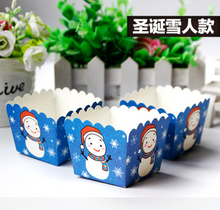 200 x Blue Red Christmas Santa Claus Snowman Kitchen Cupcake Paper Cupcake Liners Muffin Cases Greaseproof Dessert Baking Cups