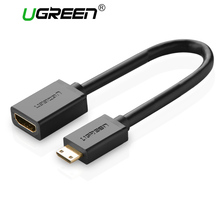Ugreen Mini HDMI to HDMI Male To Female HDMI Adapter cable M/F Converter Convertor for tablet pc tv mobile phone 1080P(China)