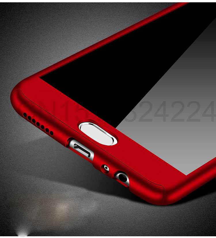 360 Full Case For Meizu Pro 7 Cases Hard PC Degree For Meizu  M6 Note M6 M5 Note  M6s Cover + Tempered Glass A12